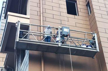 panas galvanis / aluminium tali suspended platform 415v 50hz two1.8kw motor