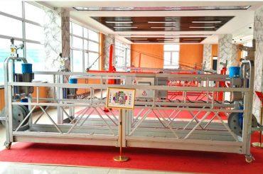 zlp630 aluminium ditangguhkan platform (ce iso gost) / tangga tinggi pembersihan peralatan / sementara gondola / ayun / ayunan panggung panas