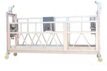 Baja Dipasang Hot Galvanized Aluminium ZLP630 Digantung Working Platform Untuk Bangunan Facade Painting