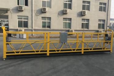 ce certified zlp630 aluminium electric hanging gondola for construction